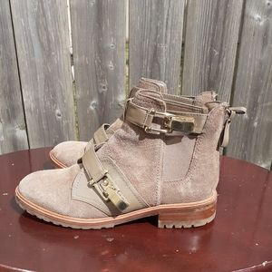 ❤SALE❤ Aldo Taupe Suede Booties With Buckle